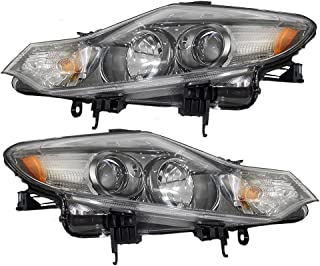 Driver and Passenger Halogen Headlights Headlamps Replacement for Nissan Murano 260601AA0A 260101AA0A