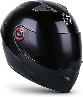 SOXON ST-666 Shiny Night · Sport Moto motocicleta Fullface-Helmet Urbano Casco Integrale Cruiser Urban Scooter · ECE certificado · incluyendo parasol · incluyendo bolsa de casco · Negro · XS (53-54cm)