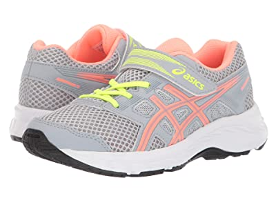 ASICS Kids Gel-Contend 5 (Toddler/Little Kid) (Piedmont Grey/Sun Coral) Girls Shoes
