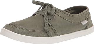 حذاء Sanuk Women's Pair O Dice Lace Sneaker، أخضر عسكري