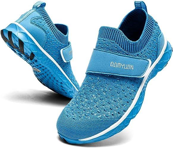 EGMPDA Boys & Girls Water Shoes Quick Drying Sports Aqua Athletic Beach Sneakers Slip-on Sport Swim Shoes(Little Kid/Big Kid)