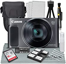Canon PowerShot SX620 HS Digital Camera (Black) along with 16GB, Deluxe Accessory Bundle and Cleaning Kit