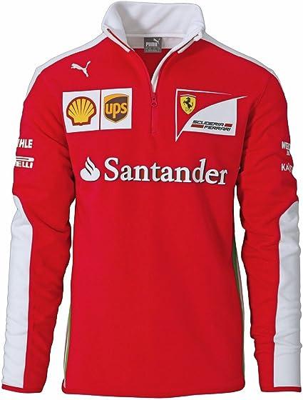 Puma Sf Scuderia Ferrari Formel 1 Team Half Zip Fleece Sweatshirt Amazon De Bekleidung