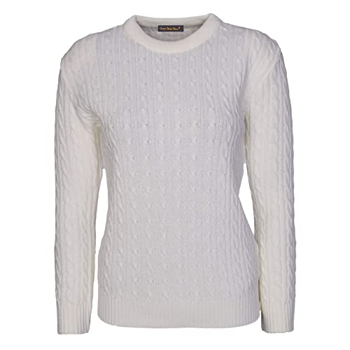 4e6234e41f99 Lets Shop Shop New Womens Ladies All Over Chunky Cable Knit Long Sleeve Jumper  Round Crew