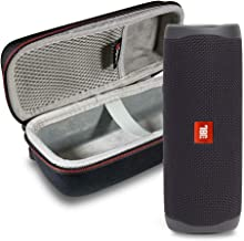 JBL FLIP 5 Portable Speaker IPX7 Waterproof On-The-Go Bundle with gSport Deluxe Hardshell Case (Black)