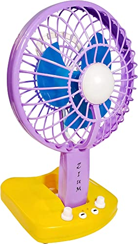ZIUM 6600 mAh Powerful Rechargeable High Speed Table Fan with Emergency LED Light for Home Office Desk Kitchen