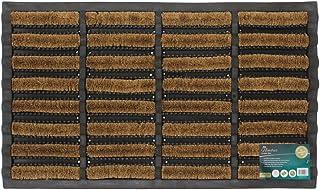 JVL Rubber and Coir Tuffscrape Doormat 45 X 75 cm Outdoor Indoor