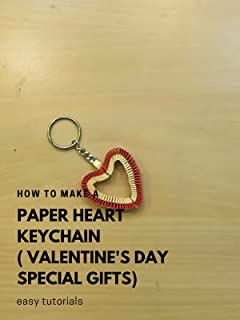 How to make a paper Heart Keychain (valentine's day special gifts) - Easy tutorials