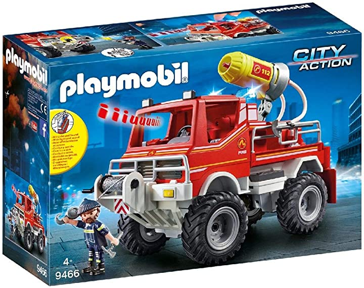 Camion Pompieri - Camion spara acqua dei vigili del fuoco, dai 4 anni playmobil city action 9466