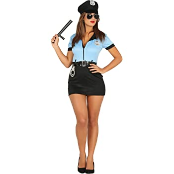 Guirca- Disfraz adulta policía, Talla 38-40 (88295.0): Amazon.es ...