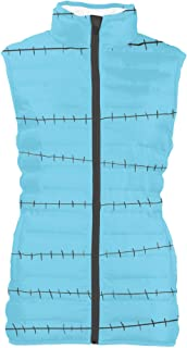 Rainbow Rules Stitches Jack Skellington Inspired Womens Puffer Vest Bodywarmer Gilet