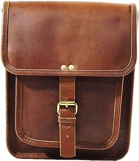 Satchel and fable Leather I pad Messenger Satchel Bag Tablet Cross Body Shoulder Bag 11 Inch