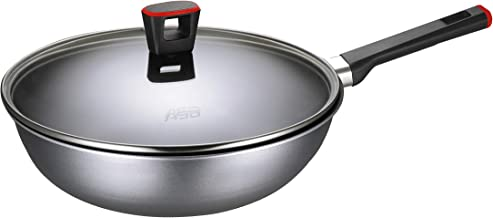 ASD HP8328GL-RD GUSTO RED 28cm Non-Stick Stir fry Pan with Glass Cover