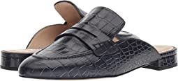 Navy Croc Effect Leather