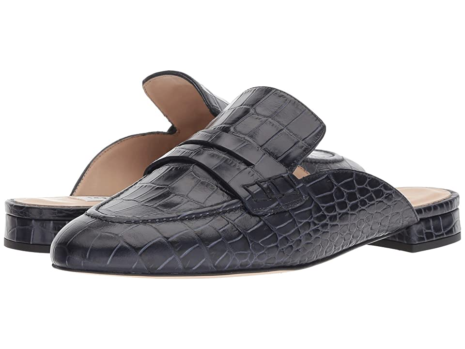 L.K. Bennett Iliana (Navy Croc Effect Leather) Women