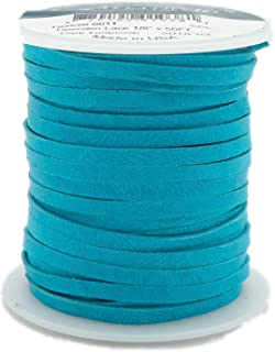 Deerskin Lace Leather Cord String Dark Turquoise 50 Feet Spool 1/8 Inch