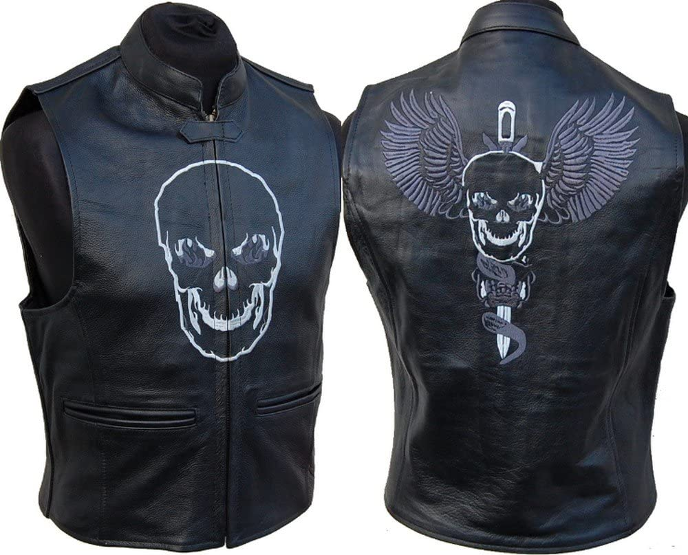 L J Lederweste Weste Aus Leder Kutte Leder Biker Rocker Motorrad Clubweste Club 3xl Auto