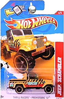 Hot Wheels 2012 Thrill Racers Prehistoric Jeep Scrambler Yellow with Tiger Stripes