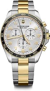 Victorinox Men's Swiss Quartz Watch with Stainless Steel Strap, Gray, 21 (Model: 241903)