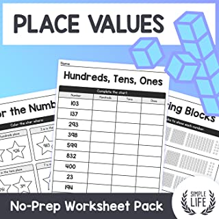 Place Values Worksheets - Hundreds, Tens, & Ones - No Prep Math Pack