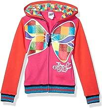 JoJo Siwa Girls' Little Big Bow Zip Up Athletic Hoodie