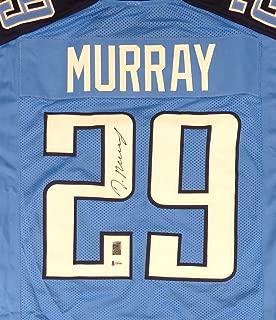 Tennessee Titans DeMarco Murray Autographed Blue Jersey Beckett BAS Stock #147903