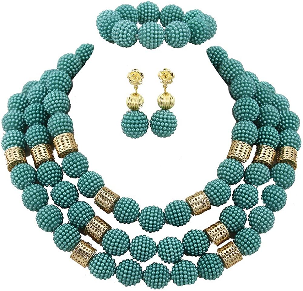 Africanbeads 3Rows 20mm low-pricing African Jewelry Limited time trial price Wedding Set Beads
