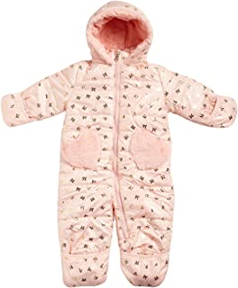 Jessica Simpson Baby Girls Snowsuit Pram with Sherpa Lined Hood (Newborn/Infant)