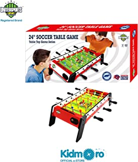Kidmoro United Sports Premier Singapore Leauge Soccer or Football Table Game, Red, 24-inches