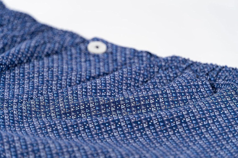 De Lucca Mens Short Pajama Sleep Set - Comfortable Sleepwear for Men with Pocket
