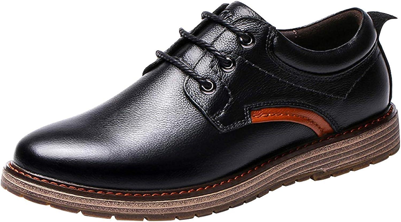 FuweiEncore FuweiEncore FuweiEncore Men Leather Lace skor British Business Casual skor Comfortable and Andable (färg  svart, Storlek  42EU)  heta sportar