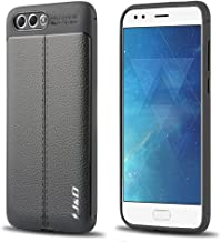 J&D Case Compatible for ZenFone 4 Case, [Anti-Scratch] [Leather Texture Pattern] Shock Resistant Protective Rubber TPU Slim Case for ASUS ZenFone 4 (ZE554KL) Bumper Case