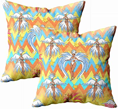 Amazon.com: Almohada/Interior Woodblock Prism Throw Pillow ...