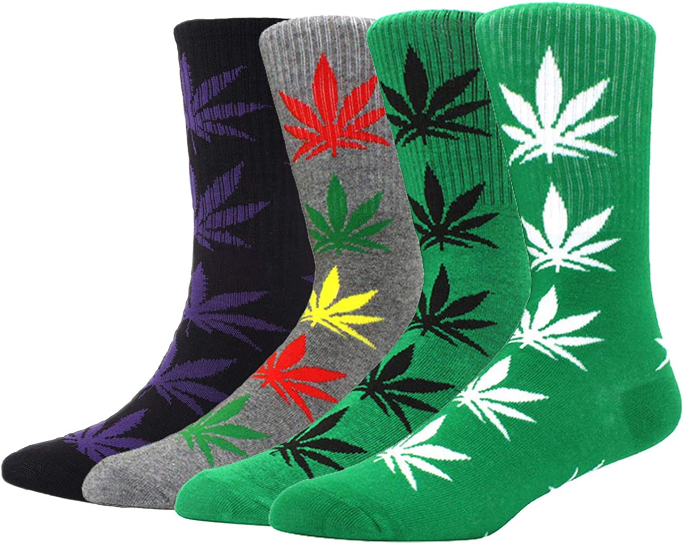 4 Animer and price revision Luxury Pairs Pack Marijuana Weed Sports Cotton Athletic Leaf Printed