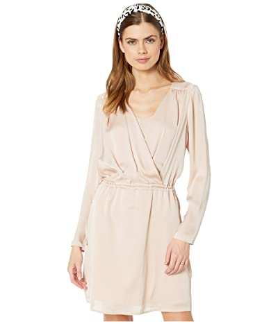 BCBGMAXAZRIA Drape Front Dress (Bare Pink) Women