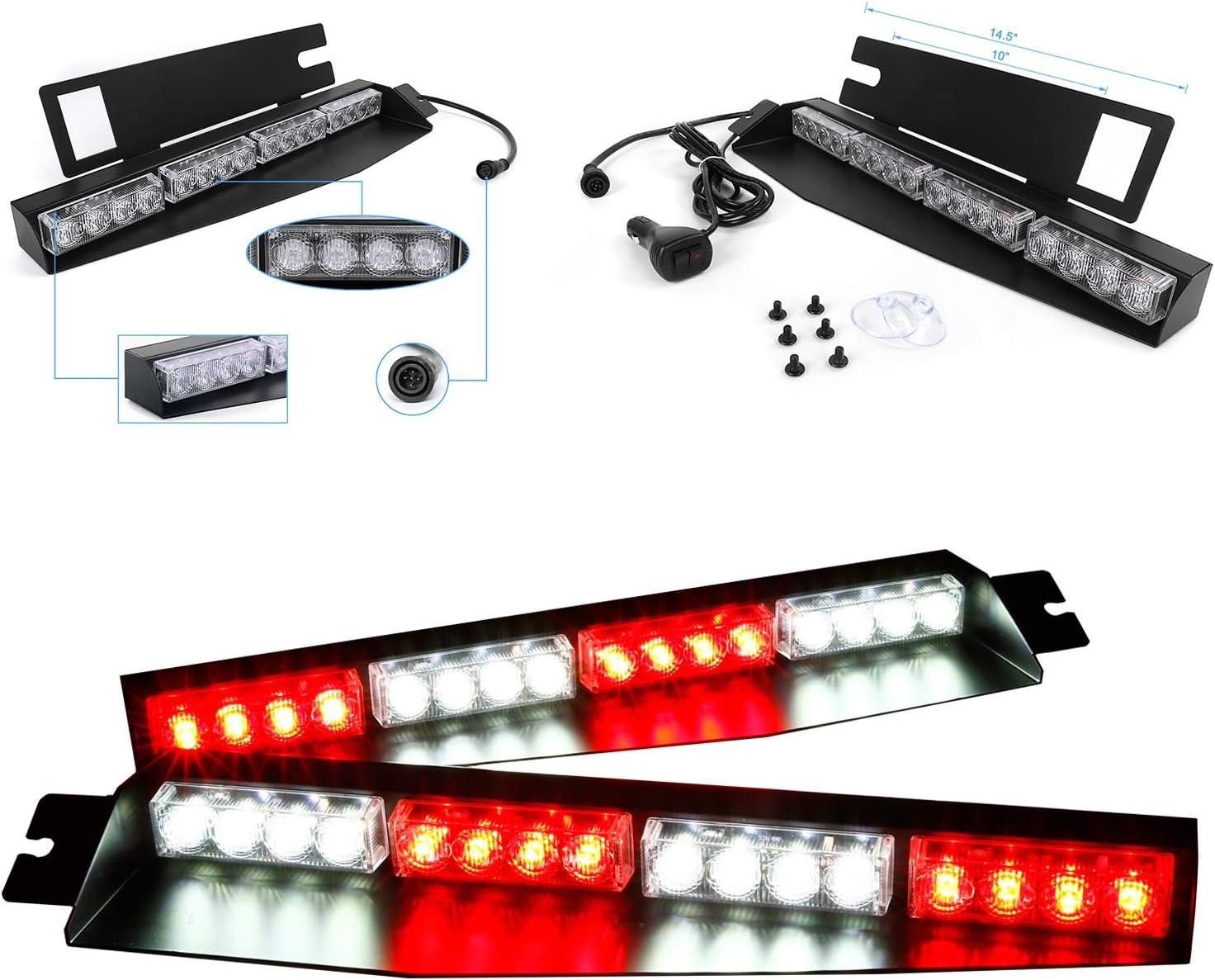 Max 41% OFF 32LED 32W LED Lightbar Kansas City Mall Visor Emergency W Hazard Windshield Light