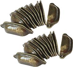 Dasing 20 stuks vintage lade deur kast ijzer shell cup handvat kast knop 9,7 cm x 3,5 cm