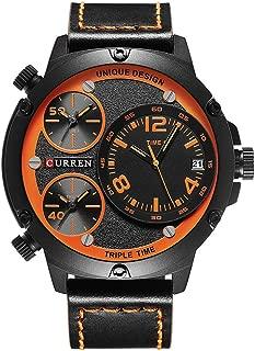 8262 Men's Business Quartz Watch Multiple time Zones Auto Date Fashion & Casual Sports Wrist