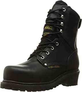 "حذاء عمل AdTec للرجال 9491 9"" Steel Toe Super Logger أسود"
