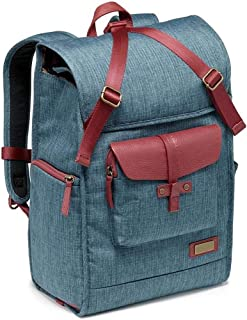 Wsw Multifunction Anti-Theft Camera Backpack, Retro Large Capacity SLR Camera Bag for Lens and Tripod Accessories -30 * 23 * 44CM Blue Comfortable Large Capacity