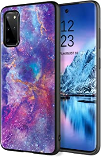 DOMAVER Samsung Galaxy S20 Plus Hülle, Lila Nebula Design Slim Fit Luminous Glow in the Dark Leicht Dünn Anti Rutsch Bumper Flexible TPU Handyhülle für Samsung S20 + Plus 5G 6,7 Zoll Hülle Lila