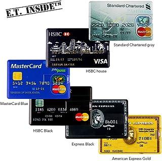 6 Pack Ultra Slim USB Flash Drive 16GB Visa MasterCard USB Memory Stick Waterproof Card Shaped Pendrive Portable in Wallet