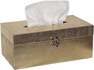 Waterproof Rectangle Wooden Tissue Box Cover Kleenex Tissue Box Holder Decorative