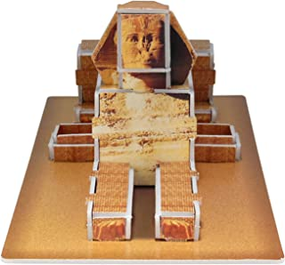 Creative 3D Puzzle Paper Model Egypt Pyramids DIY Fun & Educational Toys World Great Architecture Series, 29 Pcs