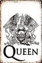 SALWON Queen Rock -Cartel De Chapa Advertencia Placa Metal Retro Pintura Hierro Art Cartel Personalizado para Sala Habitación Oficina Bar Café