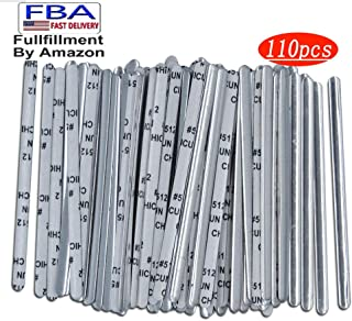 110 Pcs Mask Nose Wire, Bridge Strip Nose Clips Nose Bridge Bracket Wire for Sewing Crafts, Aluminum Nose Bridge for Face DIY Handmade Making Accessories Crafts