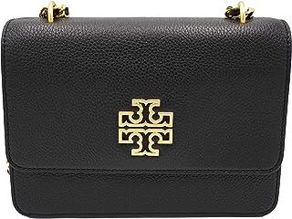 حقيبة كتف جلد بريتن قابلة للتعديل جلد للنساء من توري بورش طراز 73506 أسود/ذهبي