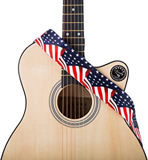 usa flag guitar strap