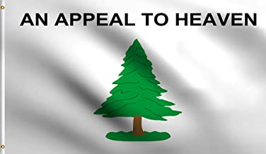 DMSE Appeal to Heaven Tree American Revolution an Appeal to God Flag 3X5 Ft Foot 100% Polyester 100D Flag UV Resistant (3' X 5' Ft Foot)