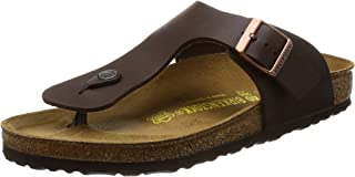 Birkenstock Mens Ramses Dark Brown Birko-Flor Sandals 41 EU